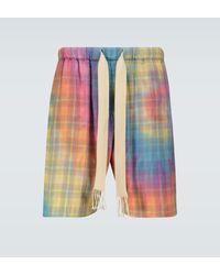 Loewe Paula's Ibiza – Pantalones cortos tie-dye de cuadros - Multicolor