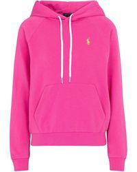 Polo Ralph Lauren Hoodie aus einem Baumwollgemisch - Pink