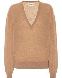Khaite Stretch-cashmere Sweater - Natural