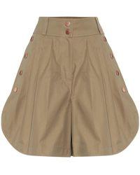 See By Chloé High-Rise Shorts aus Baumwolle - Braun