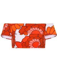 Dodo Bar Or Top bikini a stampa floreale - Arancione