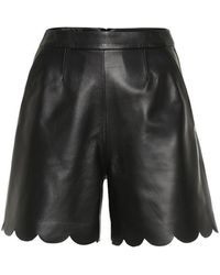 RED Valentino Shorts in pelle - Nero