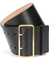 Alexander McQueen Leather Belt - Black