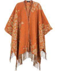 Etro Étole en laine mélangée à fleurs - Orange