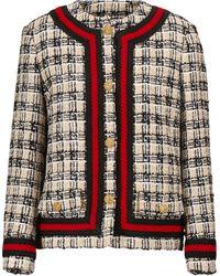 Gucci Checked Tweed Jacket - Multicolor