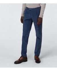 Incotex Slim-fit Corduroy Trousers - Blue