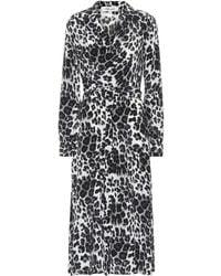 Diane von Furstenberg Vestido midi Donika de seda - Gris