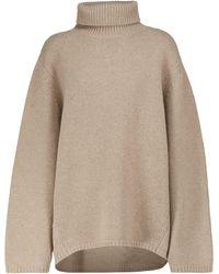 Totême Pullover aus Wolle und Kaschmir - Natur