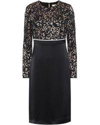 Tory Burch Lace And Satin Midi Dress - Black