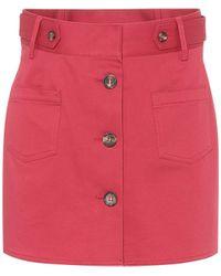 RED Valentino Stretch-cotton Shorts - Pink