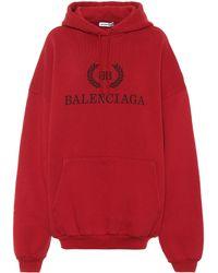 Balenciaga Oversized Cotton Jersey Hoodie