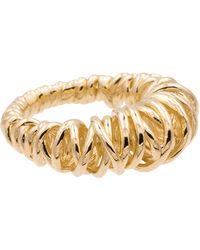Bottega Veneta 18kt Gold-plated Coil Ring - Metallic