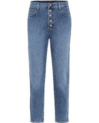 J Brand - High-Rise Straight Jeans Heather - Lyst