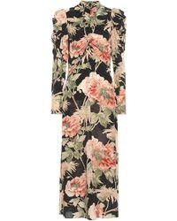 Zimmermann Espionage Floral Stretch-silk Dress - Black