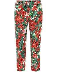 Dolce & Gabbana Cropped Low-rise Straight Pants - Red
