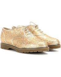 Charlotte Olympia - Stefania Glitter-embellished Oxford Shoes - Lyst