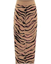 Stella McCartney Midirock aus einem Wollgemisch - Mehrfarbig