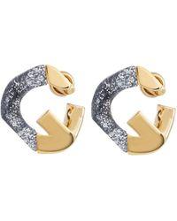 Givenchy Ohrringe G Chain - Grau