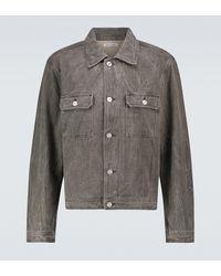 Our Legacy Mono Denim Linen Jacket - Grey