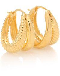 Sophie Buhai Double Rope 18kt Gold-plated Hoop Earrings - Metallic