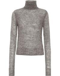 Victoria Beckham Rollkragenpullover mit Alpakaanteil - Grau