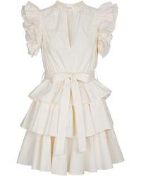 Ulla Johnson Minikleid Honoria aus Baumwolle - Weiß