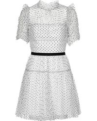 Self-Portrait Tulle Minidress - White
