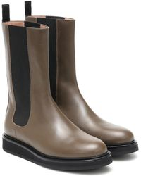 LEGRES Leather Chelsea Boots - Green