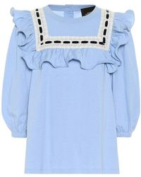 Marc Jacobs Blusa in jersey di cotone
