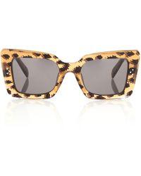 Celine Rechteckige Sonnenbrille aus Acetat - Braun