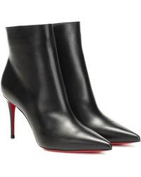 Christian Louboutin Ankle Boots So Kate 85 aus Leder - Schwarz