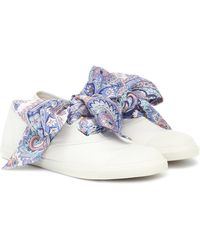Zimmermann Exclusive To Mytheresa – Scarf-tie Canvas Sneakers - White