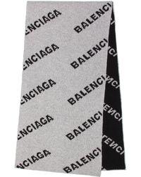 Balenciaga Camel Hair And Wool Scarf - Gray