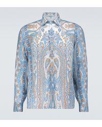 Etro Paisley Printed Shirt - Blue