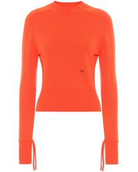 Victoria Beckham Stretch-cashmere Jumper - Orange