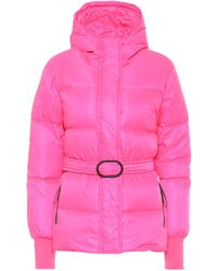 KENZO Belted Puffer Jacket - Pink