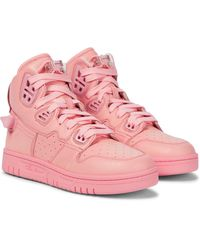 Acne Studios High-Top-Sneakers - Pink