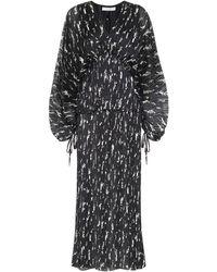 Givenchy Maxikleid mit Plisseefalten - Schwarz