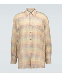Our Legacy Striped Borrowed Shirt - Natural