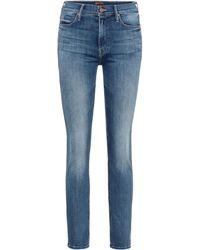 Mother Jeans ajustados Dazzler tiro medio - Azul