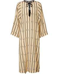 Gucci Caftán de seda estampado - Neutro