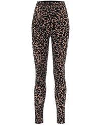 Alaïa High-rise Stretch-velvet leggings - Black
