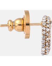 Valentino Orecchini VLOGO con cristalli - Metallizzato