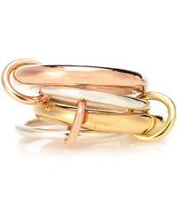 Spinelli Kilcollin Ring Cici aus 18kt Rosé- und Gelbgold mit Sterlingsilber - Mettallic