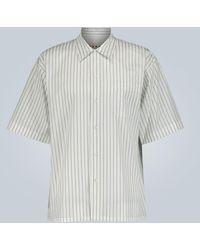 Marni Gestreiftes Hemd aus Baumwolle - Weiß