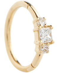 Maria Tash 18kt Gold Single Earring With Diamonds - Metallic
