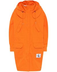 Calvin Klein Cotton-blend Parka - Orange