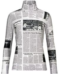Balenciaga Bedrucktes Top - Grau