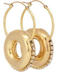 Ellery Infinity Embellished Hoop Earrings - Metallic