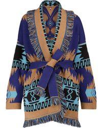 Alanui Cardigan Regenerated Icon in cashmere - Blu
